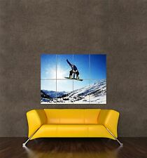 POSTER PRINT PHOTO SPORT SNOW SNOWBOARD SNOWBOARDING POWDER SUNSHINE SEB383