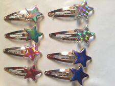 4 DIFFERENT COLOR PAIRS OF STAR SHAPED Hairpin Hair Clip Snap Barrette Head GIFT