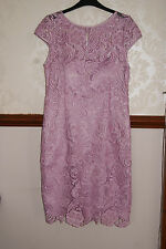 Adrianna Papell Lilac Luxury Lace Dress Wedding Prom Cocktail Party BNWT 16 £170