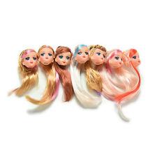 """Cool Doll Head with Colorized Hair For 9"""" Barbie Doll Styles Random"""