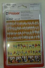 Preiser 16358 Figurenset Sitzende Figuren 72 unbemalte Miniaturfiguren HO NEU