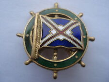CWW1 VINTAGE UNION CASTLE LINE SMALL SOUVENIR ENAMEL SHIPS WHEEL PIN BADGE