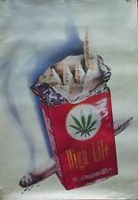HIGH LIFE SOFT PACK ART VERY RARE POSTER 1985 WEED GANJA MARIJUANA (108)