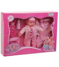 NEW! My Baby & Me Baby Doll Set with Diaper Bag / Outfits / Utensils