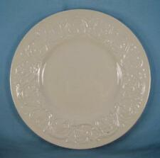 Patrician Plain Salad Plate Wedgwood Embossed Flower & Scrolls England White (O)