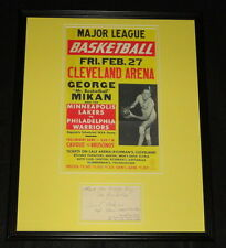 George Mikan Signed Framed 16x20 Photo Poster Display JSA Lakers