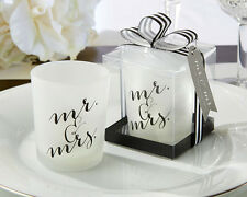 4 Mr. Mrs. Classic Votive Candle Holders Wedding Favors Decorations Lot Q35448