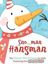 Snowman Hangman: The Classic Word Game for Kids Featuring Fun Scratch-Offs!