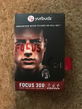 New Yurbuds Focus 300 SweatProof Sport Earbuds Mic Control Black