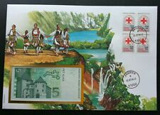 Croatia Red Cross And Red Crescent 1994 Dance FDC (banknote cover) *rare