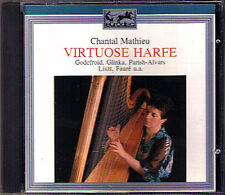 Chantal MATHIEU: VIRTUOSE HARFE Glinka Parish-Alvars Spohr Liszt Faure CD Harp