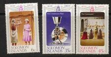 SOLOMON ISLANDS SG334/6 1977 SILVER WEDDING MNH