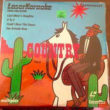 """Country Hits / vol. 6  -  Pioneer 8"""" Laserdisc Karaoke  NEW"""