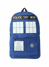Nwt Blue Dr Who Tardis Police Public Call Box School Backpack Book Bag BBC DW