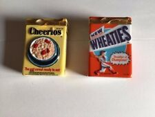 FRANKLIN MINT LIMOGES STYLE CEREAL TRINKET BOX x 2. CHEERIOS AND WHEATIES