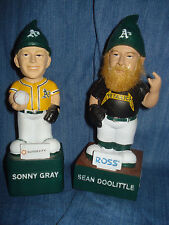 Oakland A's Sonny Gray & Sean Doolittle Metallica Gnome SGA Athletics bobblehead