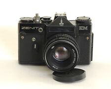 Zenit EM 35mm SLR Camera Moscow Olympic Edition + 58mm f2 Helios-44M Lens (0108)