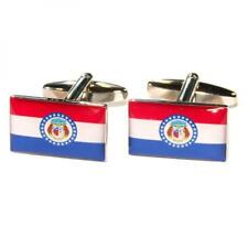 Missouri State Flag Cufflinks USA Missourian Bushwacker Present Gift Box Cruise