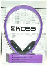 Koss KPH7v Ultra-Light On-Ear Adjustable Headband Stereo Headphones New Violet