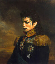 Hand-painted General Portrait Oil Painting Art on Canvas Michael Jackson 24x30