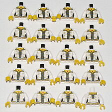 LEGO LOT OF 20 NEW WHITE FEMALE MINIFIGURE TORSOS WITH A DRESS PIECES