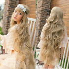 100cm Long Sexy Curly Wavy Full Wig Hair Blonde Costume Party Cosplay
