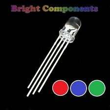 5 x Tri-Colour LED 5mm  - Red/Green/Blue - UK - 1st CLASS POST