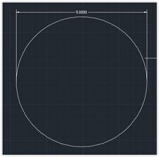 "1pc Acrylic Plastic (plexiglass)  Round  Sheet  - 1/8"" x 9""  Circle  -  Clear"