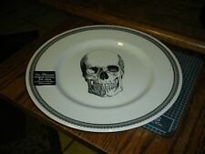 "New Victorian English Pottery Skull Halloween 8 1/2"" Plate (s) Edward Challinor"