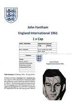 John fantham Inglaterra internacional 1961 Raro Firmado Original Revista De Corte