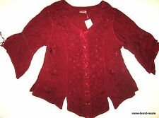 HOLY CLOTHING NWT Womens PLUS 3X Burgundy Boho Gypsy Gothic Romantic Renaissance