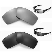 New Walleva Polarized Black + Titanium Lenses For Oakley Canteen(2013&before)