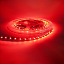 Flexible stick-on LED strip 8mm wide 60 LED per m 12V RED 5 metre roll