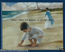 ZOLAN FOOTPRINTS IN THE SAND BEACH JESUS CHRIST CHRISTIAN FRAMED 8 X 10 PHOTO
