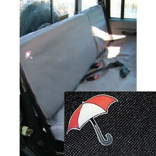 LAND ROVER DEFENDER 110 UP TO 2007 REAR SEATS WATERPROOF SEAT COVERS SET - BLACK