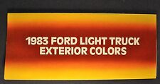 1983 Ford Truck Paint Chip Colors Brochure Pickup Bronco Econoline Van Ranger