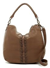 Liebeskind Berlin Bag NIVA Lasercut Genuine Leather Hobo Crossbody Earth