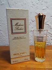 MADAME ROCHAS EAU DE TOILETTE 30 ML 1 FL OZ ROCHAS PARIS ORIGINAL BOX 75% FULL