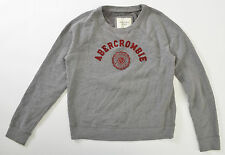 Abercrombie Fitch Womens Sweatshirt Spellout Fleece Lined Super Soft 2016 Large