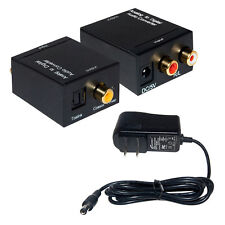 Analog to Digital Optical Coaxial Toslink Signal Audio Converter Adapter RCA M1B