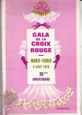 PROGRAMME GALA DE LA CROIX ROUGE MONEGASQUE 1973 (DIOR / CARTIER / ROEDERER)