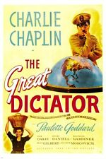 THE GREAT DICTATOR charlie chaplin MOVIE POSTER paulette goddard 24X36 NEW