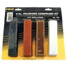 NEW Polishing Metal Buffing Compound Kit Steel Polisher Supplies Carded 4-Pack