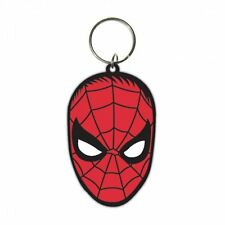MARVEL SPIDERMAN FACE RUBBER KEYRING NEW OFFICIAL MERCHANDISE