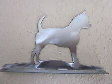 CHIHUAHUA  MAILBOX TOPPER (no name) STEEL RAW METAL FINISH NEW STYLE