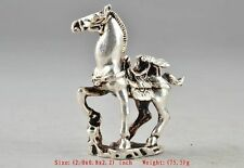 Amulet Tibet Silver Chinese Old Collectable Handwork Carving Horse Statue