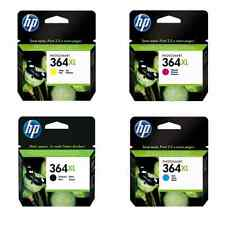 4 Set HP 364XL Black Cyan Magenta Yellow Genuine Original 364 Ink Multi Combo