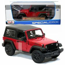 Maisto Special Edition Die Cast CarSet- Red Sports Utility Vehicle JEEP WRANGLER