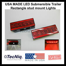 (1) Pair LED Submersible Trailer Rectangle stud Lights Stop, Turn, Tail USA MADE