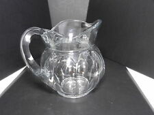 "Jefferson Krys-Tol Chippendale 3 Pint Jug Pitcher Clear Crystal 7"" T ca1907-20s"
